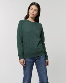 Heather Snow mountain green sweater for her