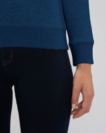 Black Heather Blue capsule sweater for her