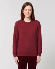 Heather Neppy Burgundy Uniseks Sweater met ronde hals