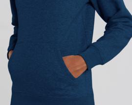 Hooded capsule sweater Black Heather Blue