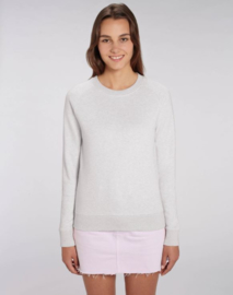 Cream Heather Grey capsule sweater for her
