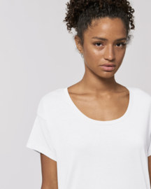 White loose capsule tee for her