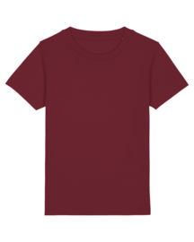 Burgundy t-shirt for the little ones