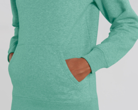 Hooded sweater Mid Heather Green