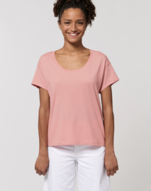 Canyon pink loose tee for her