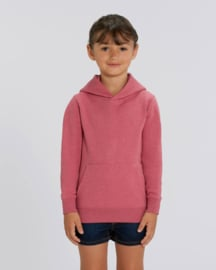 Heather Cranberry hooded capsule sweater for the little one