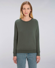 Khaki capsule sweater for her