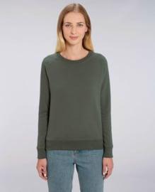 Khaki capsule sweater for her