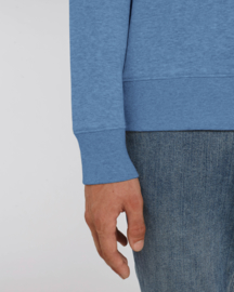 Mid heather blue capsule sweater for him