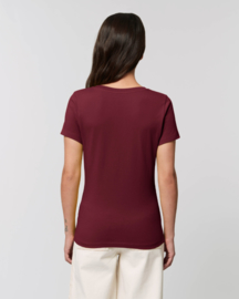 Burgundy t-shirt for her