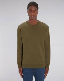 Britisch Khaki uniseks sweater met ronde hals