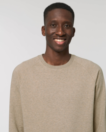 Heather Sand capsule sweater for him