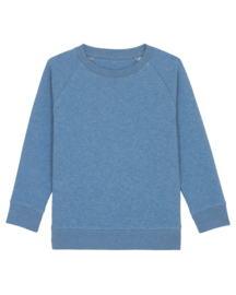 Mid Heather Blue sweater for the little one