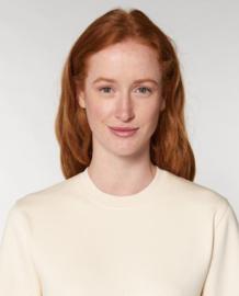 Natural Raw Uniseks Sweater met ronde hals