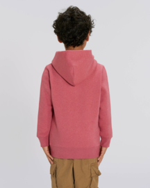 Heather Cranberry hooded sweater for the little one