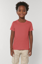 Carmine red t-shirt for the little ones