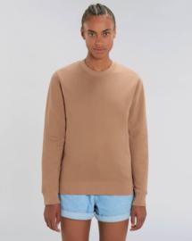 Camel Uniseks Sweater met ronde hals