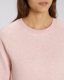 Cream Heather Pink capsule sweater for her