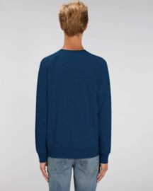 Black heather blue sweater for him