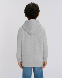 Heather Grey hooded sweater for the little one