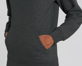 Hooded capsule sweater Dark Heather Grey