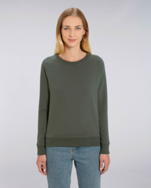 Khaki sweater for her