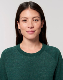 Heather Snow Glazed Green capsule sweater for her