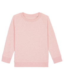 Cream Heather Pink sweater for the little one