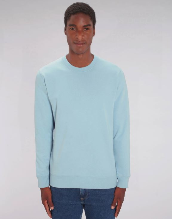 Sky Blue Uniseks Sweater met ronde hals