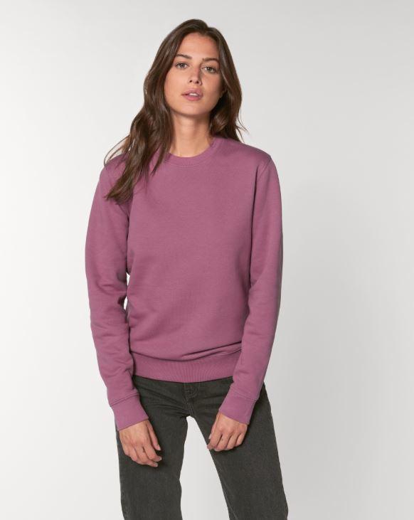 Mauve Uniseks Sweater met ronde hals