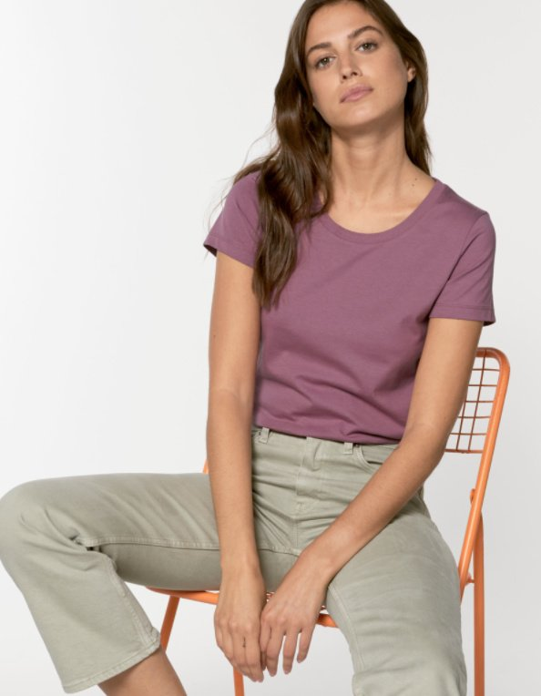 Mauve t-shirt for her