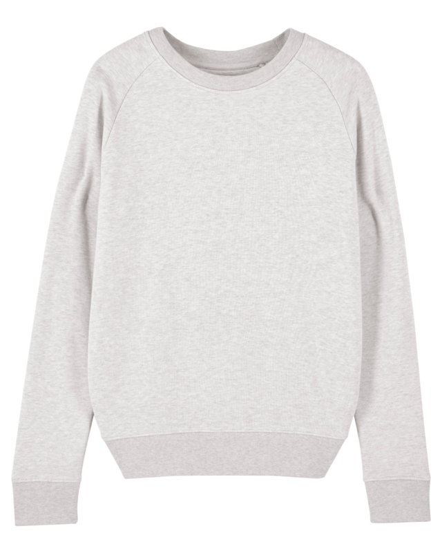 Cream Heather Grey sweater for her