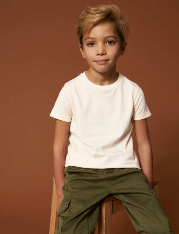 Natural Raw t-shirt for the little ones