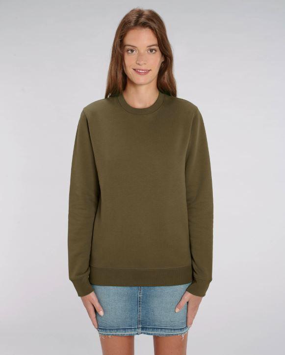 Birtish Khaki Uniseks Sweater met ronde hals