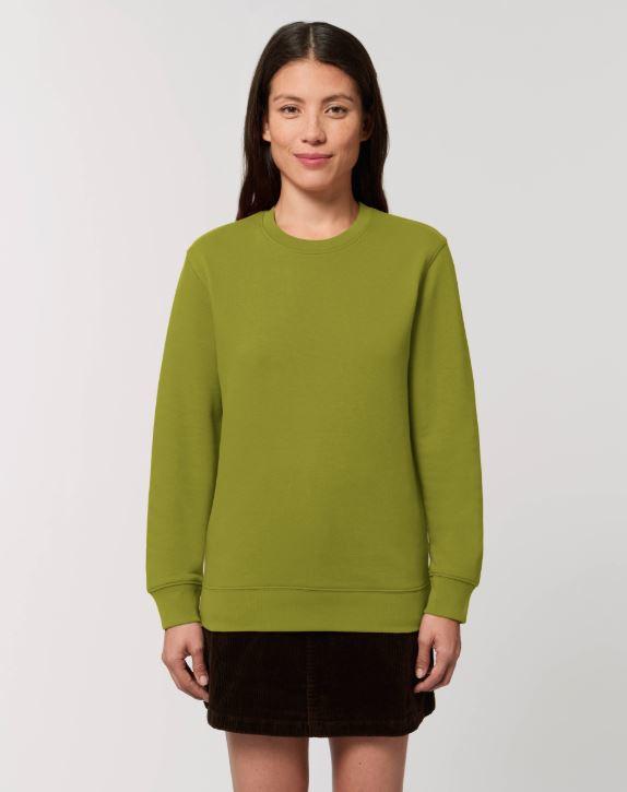Moss Green Uniseks Sweater met ronde hals