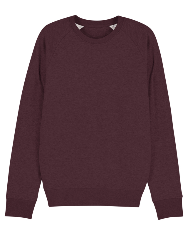 Heather Grape Red sweater for him