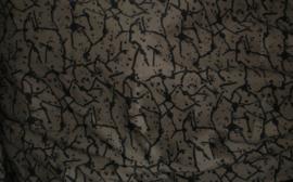 Synthetisch print zwart brons (grijsbruin) 145x375 cm (BRS)