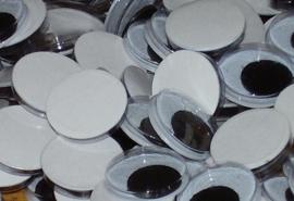 Zelfklevende wiebeloogjes, 14 mm