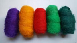 Gekaarde wol assorti sterke kleuren (nr 233)