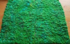 ZIJDELONT, CREME WIT, gerecyclede sarizijde, gekaard, vanaf 10 gram