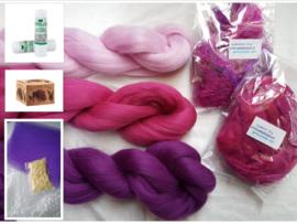 Net-even-een-extraatje-verdiend-knutselpakket roze, paars, vanaf