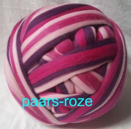 Dik lontwol gemeleerd, paars-roze, vanaf 1 meter