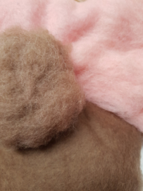 Huidskleur viltwol maken