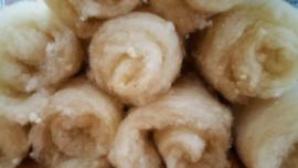 Vulwol basiswol, zout gewassen, handgekaard, 35-40 gram