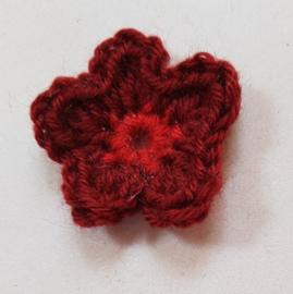 Gehaakte bloemetjes ca 3,5 cm (GH37)