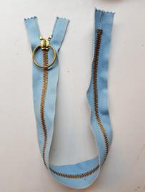 Rits-opruiming, vintage, lichtblauw 39.5 cm (lw3)