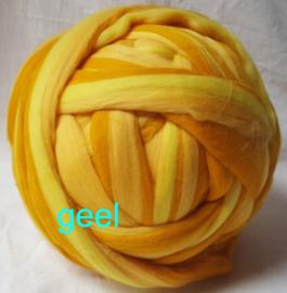 Dik lontwol gemeleerd, geel, vanaf 1 meter