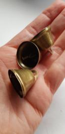 Metalen klokjes, (kerst)klokjes, 22x26 mm., vanaf