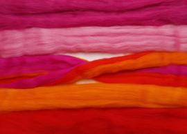 Roze oranje variatie, vanaf
