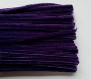Chenilledraad, purple, 50 cm lang